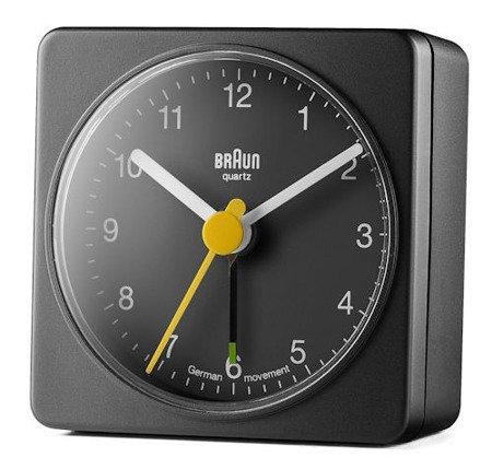 Budzik BRAUN alarm narastający czarny mały BNC002BKBK