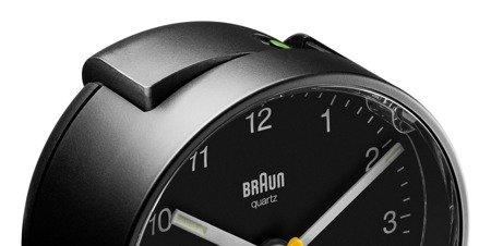 Budzik BRAUN podświetlenie drzemka 7 cm BC01B