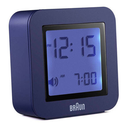 Budzik Braun elektroniczny niebieski mały BNC018BL