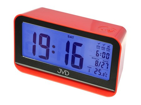 Budzik JVD 3 alarmy  termometr czujnik natężenia oświetlenia SB130.1