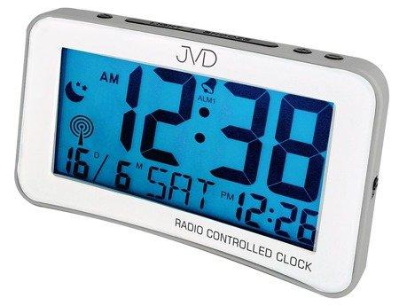 Budzik JVD STEROWANY RADIOWO 2 alarmy drzemka RB860.3