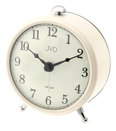 Budzik JVD cichy mechanizm BEŻOWY 9 cm SRP2509.4