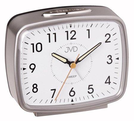 Budzik JVD srebrny alarm 11,8 cm SRP905.3