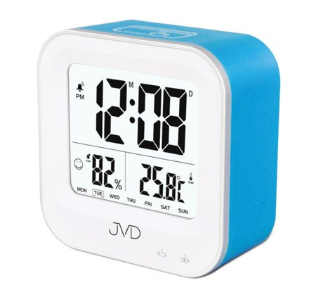 Budzik JVD termometr AKUMULATOR higrometr SB9909.3