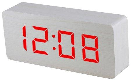 Budzik Xonix sieciowy 3 alarmy GHY-015YK WH RED