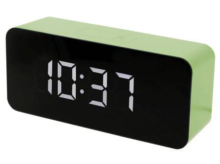 Budzik zegar SIECIOWY 3 alarmy zielony SB6612.4