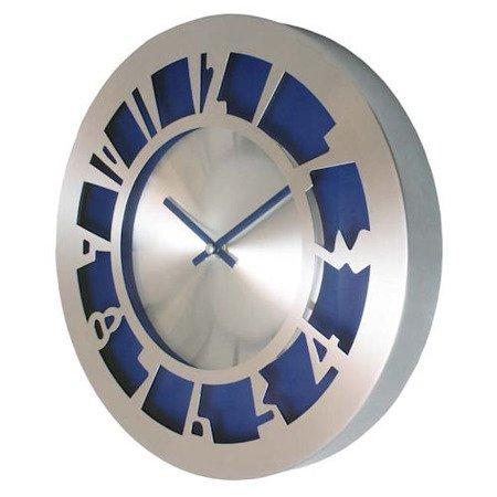 SUPER zegar ścienny ALUMINIUM niebieski AL2035BLSW