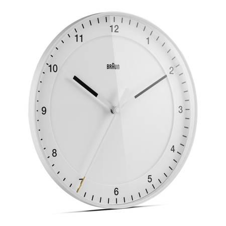 Zegar Braun ścienny biały CICHY 30 cm BC17W
