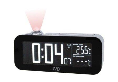 Zegar/Budzik JVD sieciowy DCF77 projektor RB93.1