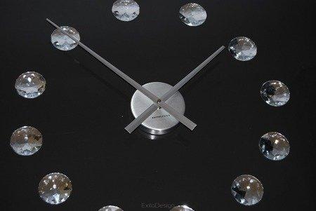 Zegar EXITODESIGN DIY ścienny naklejany KRYSZTAŁY 60 cm HS-668DM