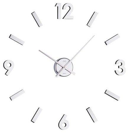 Zegar JVD DIY ścienny naklejany DIY 80 cm srebrny HB11