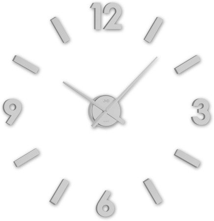 Zegar JVD DIY ścienny naklejany DIY 80 cm srebrny  HC20.1