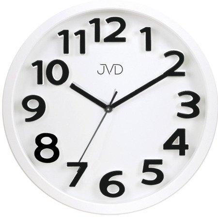 Zegar JVD ścienny 33 cm CYFRY 3D CICHY nowoczesny HA48.1
