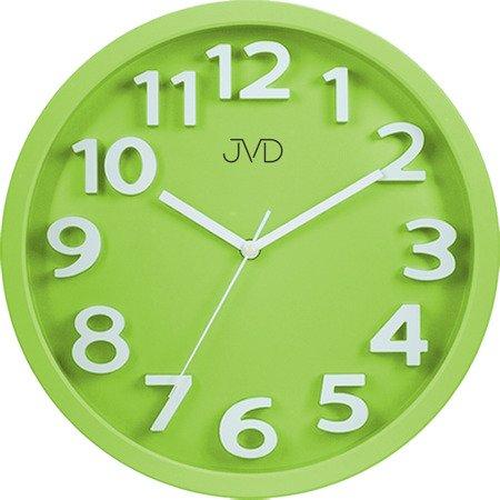 Zegar JVD ścienny 33 cm dziecięcy CYFRY 3D CICHY nowoczesny HA48.2