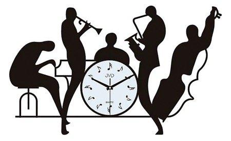 Zegar JVD ścienny 70 cm MUZYCZNY DESIGNERSKI HJ70