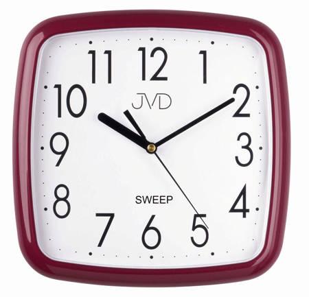 Zegar JVD ścienny CICHY bordowy CZYTELNY HP615.13