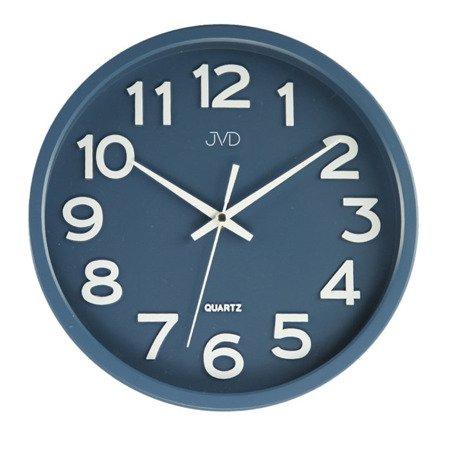 Zegar JVD ścienny CICHY czytelny HX2413.1