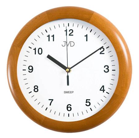 Zegar JVD ścienny CICHY drewniany dąb NS2341.41