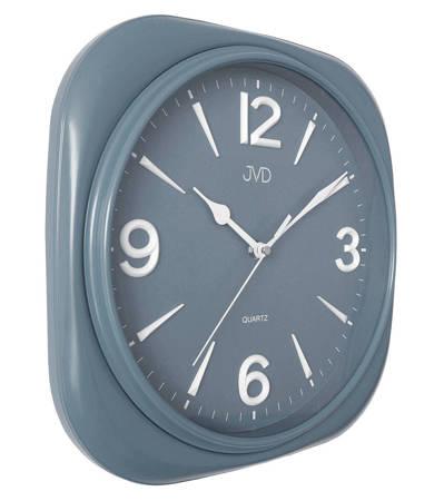 Zegar JVD ścienny CICHY szary czytelny HX2444.4