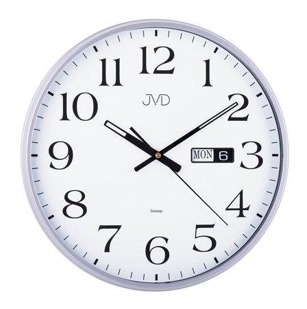 Zegar JVD ścienny DATOWNIK cichy 35 cm HP671.4