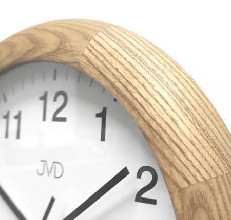 Zegar JVD ścienny DREWNIANY 27 cm NS19020.78