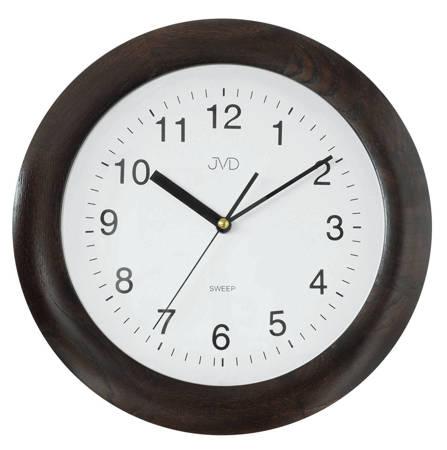 Zegar JVD ścienny DREWNIANY brązowy 30 cm NS7017.4