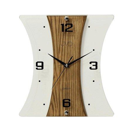Zegar JVD ścienny DREWNO szkło 32 cm NS16051.11