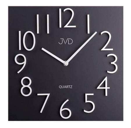 Zegar JVD ścienny METAL MAGNES czarno-srebrny HB20