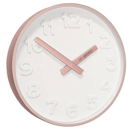 Zegar JVD ścienny RÓŻOWE ZŁOTO METAL  HC13.3