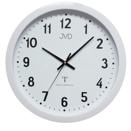 Zegar JVD ścienny STEROWANY RADIOWO DCF77 RH652