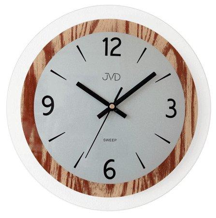 Zegar JVD ścienny SZKLANY 30 cm NS19031.1