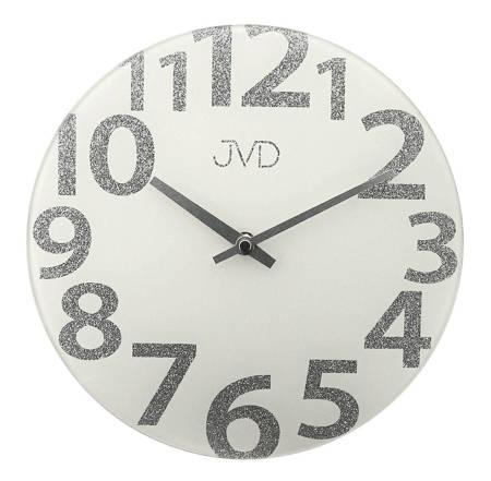 Zegar  JVD ścienny SZKLANY nowoczesny HO138.2