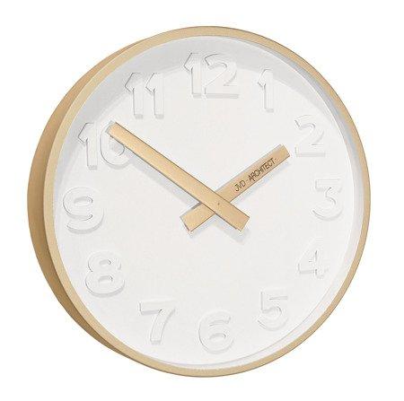 Zegar JVD ścienny ZŁOTY nowoczesny METAL  HC13.4
