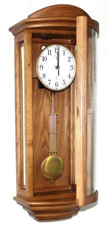 Zegar JVD ścienny drewniany DCF77 kurant NR2220.11