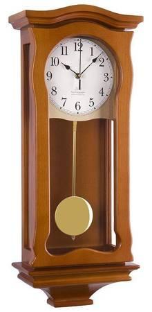 Zegar JVD ścienny drewniany z kurantami NR2219.41