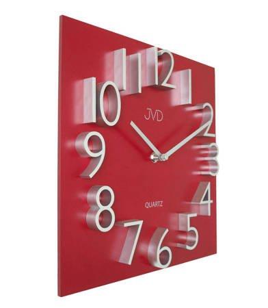 Zegar JVD ścienny drewno-płyta MDF czerwony HB27