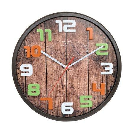 Zegar JVD ścienny dziecięcy CYFRY 3D CICHY nowoczesny 30,5 cm HA51.2