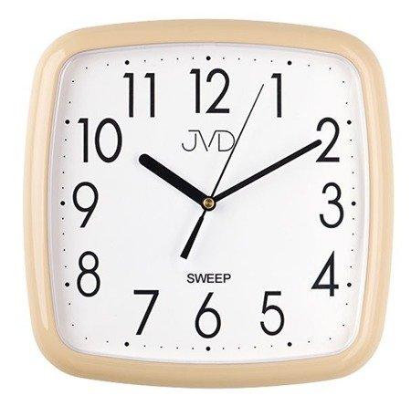 Zegar JVD ścienny kremowy cichy 26 cm HP615.10