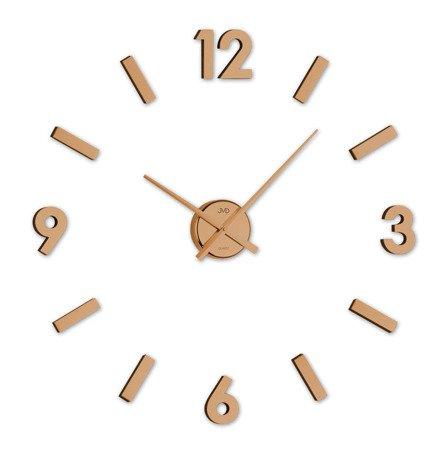 Zegar JVD ścienny naklejany 80 cm miedziany HC20.2