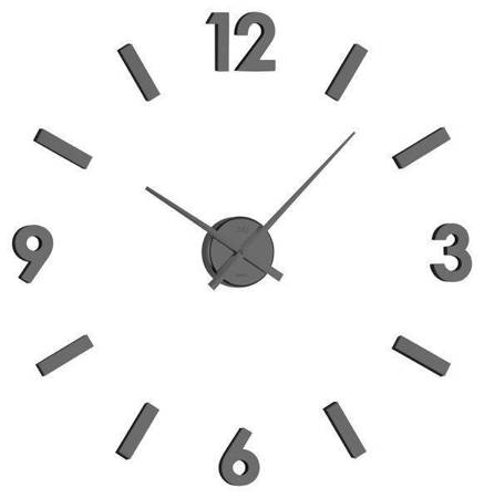 Zegar JVD ścienny naklejany czarny DIY 80cm HB11.2