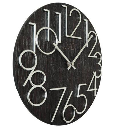 Zegar JVD ścienny nowoczesny DREWNO 30 cm HT99.1