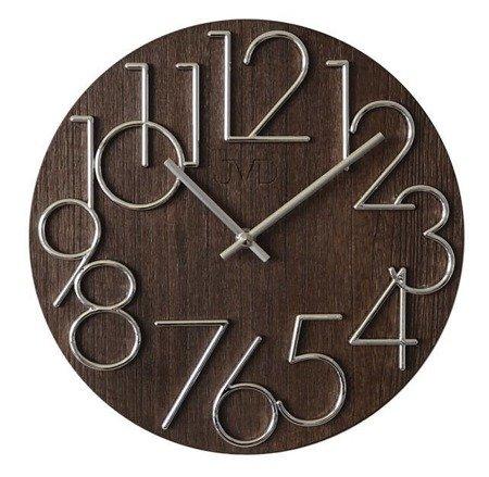 Zegar JVD ścienny nowoczesny DREWNO 30 cm HT99.3