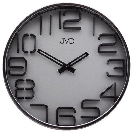 Zegar JVD ścienny nowoczesny srebrny HC18.1