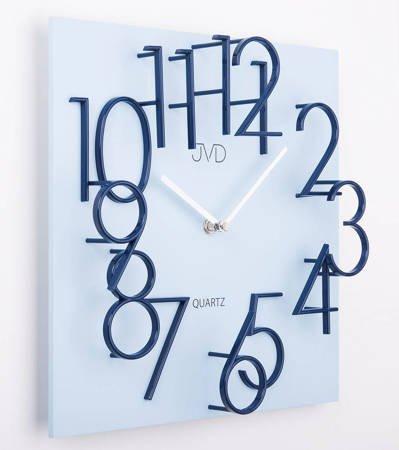 Zegar JVD ścienny płyta MDF niebieski 30 cm HB24.2