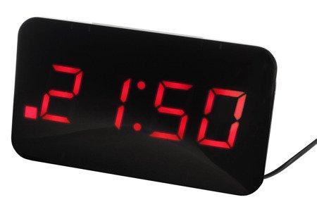 Zegar JVD sieciowy,14 cm, ładowarka USB, SB24.1