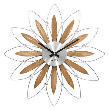 Zegar LAVVU ścienny KRYSZTAŁY 50 cm DREWNO LCT1112