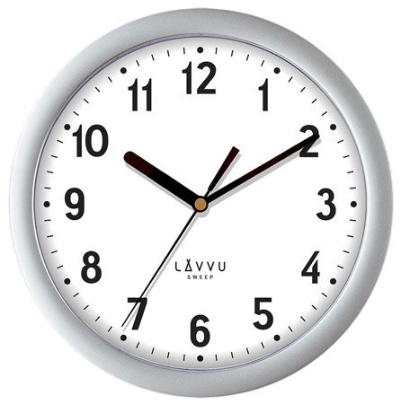 Zegar LAVVU ścienny srebrny 25 cm LCS2021