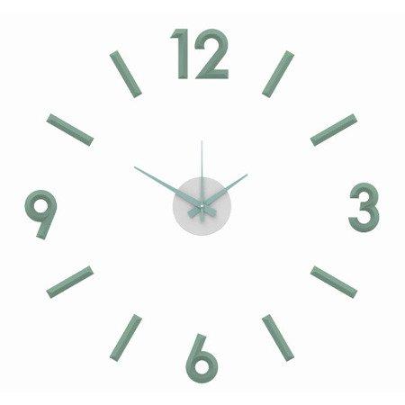 Zegar MPM ścienny 60 cm naklejany DIY miętowy E01.3771.40
