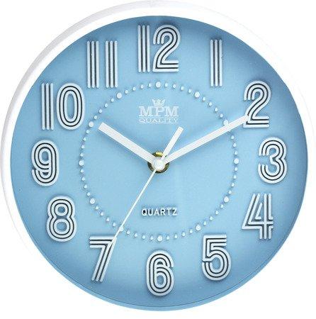 Zegar MPM ścienny MŁODZIEŻOWY nowoczesny CICHY E01.3228.30