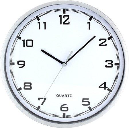 Zegar MPM ścienny srebrny czytelny E01.2478.70.A